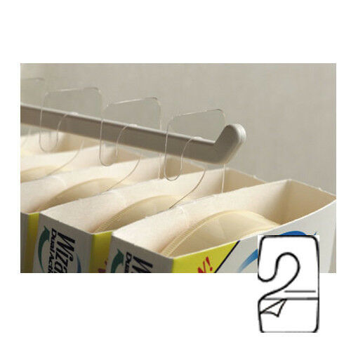 100 Hanging Tabs With Hook - Hook Hang Tabs Tags Self Stick Package Hangers