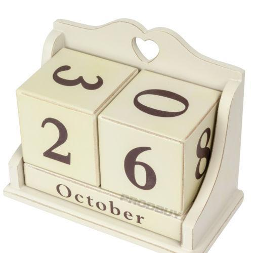 Wooden Desk Calendar Ebay