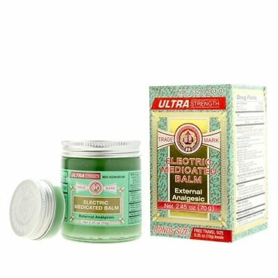Electric Medicated Balm Ultra Strength Fei Fah (2.45 Oz) + Free Travel Size 10g
