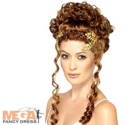Gold Laurel Leaf Headpiece Adults Fancy Dress Roman Greek God Costume Accessory