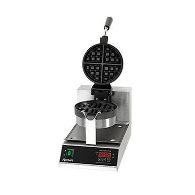 "Adcraft BWM-7/R 7"" Round Grids Belgian Waffle Maker"