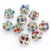 Rhinestone Round Spacer Beads