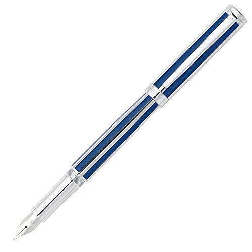 Sheaffer Intensity Fountain Pen, Blue & Chrome, Fine Nib, New In Box Collectibles