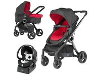Chicco Duo Urban Plus Travel System in Red Wave