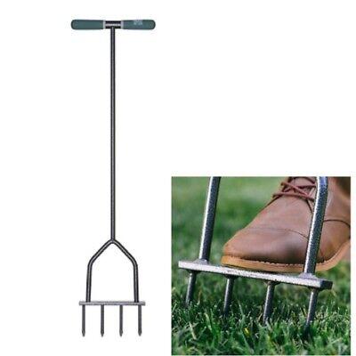 Yard Butler Lawn Spike Aerator Manual Gardening Tool Fertilizers Grass Soil Care