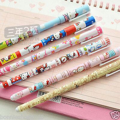6 pcs/set Color Gel pen 2018 New hello kitty  Roller ball pen Stationery Gift