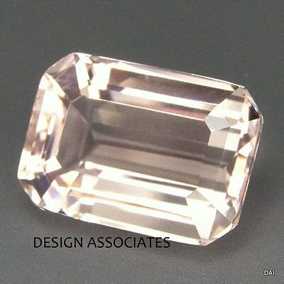 MORGANITE 6X4 MM EMERALD CUT ALL NATURAL  SOFT PINK