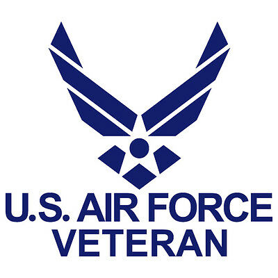 US AIR FORCE VETERAN USAF EMBLEM ARMY MILITARY VINYL DECAL STICKER (USAF-05)