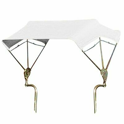 3-bow Tractor Canopy With Frame Axle Mount 40 - White