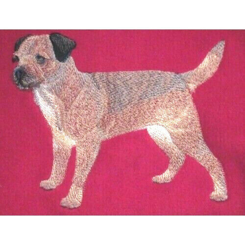 Embroidered Ladies Fleece Jacket - Border Terrier C4888 Sizes S - XXL