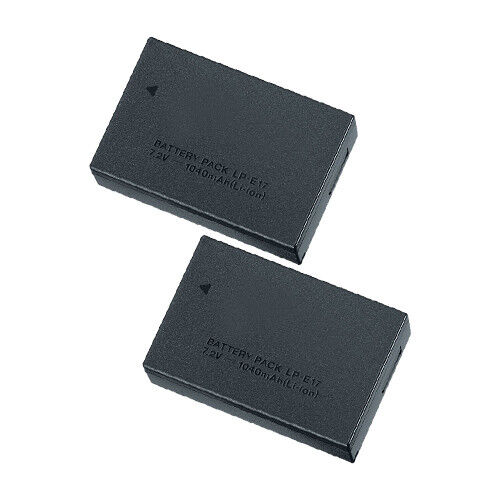 Replacement For Canon LP-E17 1040mAh Li-Ion Camera Battery- 2 Pack
