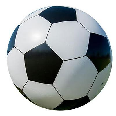 2 INFLATABLE WHITE SOCCER BALL 10 in sports ball inflate blowup toy  BULK LOT](Soccer In Blow Up Balls)