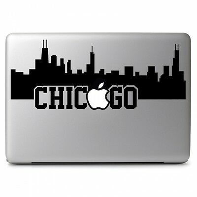 City of Chicago with Apple for Apple Macbook Air Pro Laptop Vinyl Decal Sticker