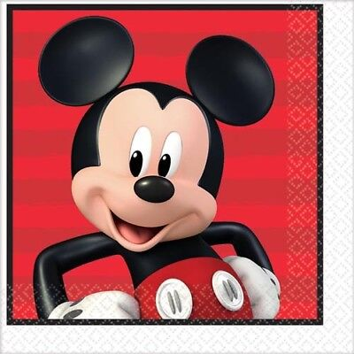 Mickey Mouse Napkins - MICKEY MOUSE On the Go LUNCH NAPKINS (16) ~ Birthday Party Supplies Serviettes