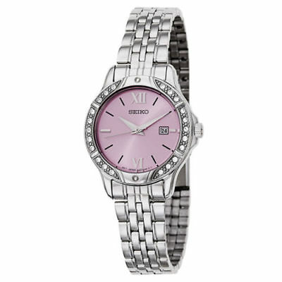Seiko New Women's Pink Dial Crystal Bezel Watch (Dial Crystal Bezel Watch)