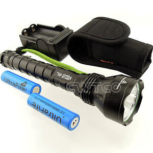 3T6 3x CREE XM-L XML T6 LED 4000Lm Flashlight Torch + 2x 18650 +Charger +Hoster
