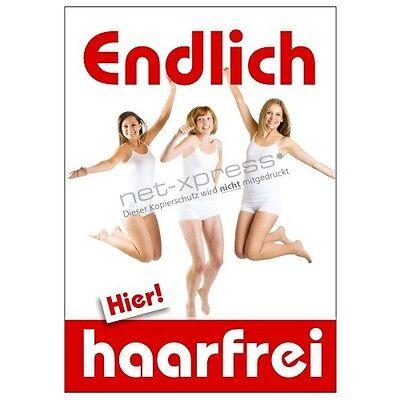 Kosmetikposter für professionelle Haarentfernung A1, Werbeplakat Plakat Poster