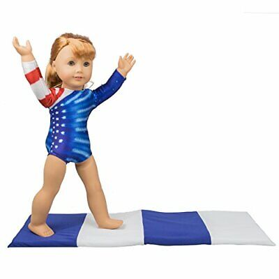 Gymnastics Outfit and Mat Set for American Girl Dolls: 2 Pcs