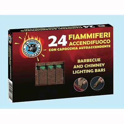 El Gaucho Accendifuoco 24 Fiammiferi in legno e cera inodore-  24 conf
