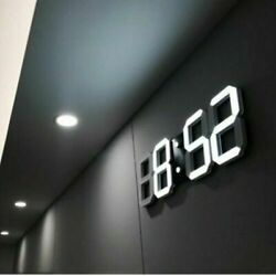 Remote Control Large LED Digital Wall Clock w/ Countdown Timer Temperature Date~