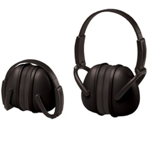 2 Black Ear Muffs Hearing Protection Folding & Adjustable Work//Hunting/Shooting