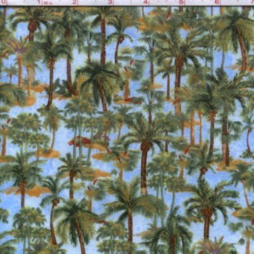 Palm Tree Fabric Ebay