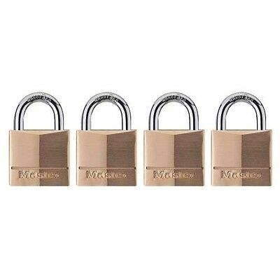 Master Lock 140q Solid Brass Keyed Alike Padlock With 1-916-inch Wide Body And
