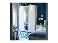 Ikea 3 door white wardrobe with mirror FREE DELIVERY AND ASSEMBLING