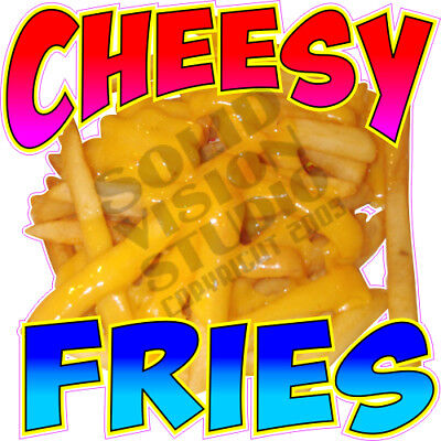Cheesy Fries Cheese French Fry Concession Window Food Truck Vinyl Sticker Decal