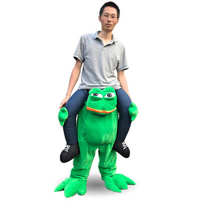 Halloween Cosplay Animal Frog Ride on Pants Mascot Costume Party Game Dress (Animals On Halloween)