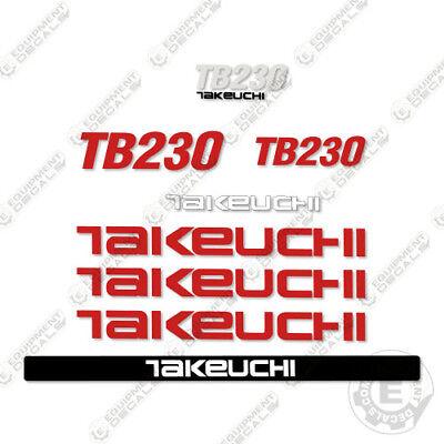 Takeuchi Tb 230 Mini Excavator Decals Equipment Decals Tb230 Tb-230