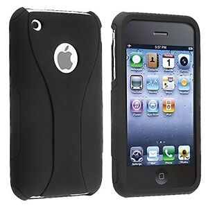 Rubberized Hard Snap-on Cup Shape Case for iPhone 3G / 3GS - Black/Black