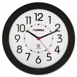 Lorell Wall Clock, Arabic Numerals, 9, White Dial/Black Frame (LLR60990)