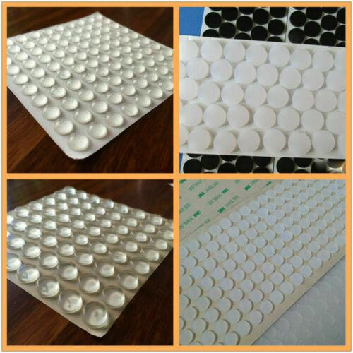 как выглядит 100x Self Adhesive Rubber Feet Clear Semicircle Bumpers Door Buffer Pad Useful. фото