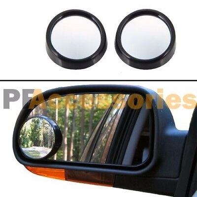 """2 Pcs Universal 2"""" Wide Angle Convex View Adjustable Blind Spot Mirror for Car"""