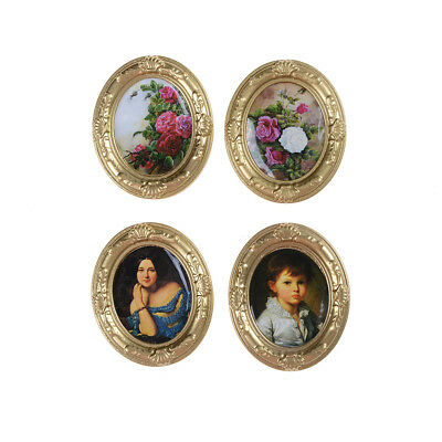 Miniature Dollhouse Framed Wall Painting 1:12 Scale Doll House Accessories VQ