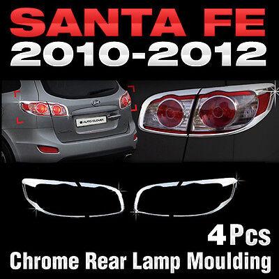 Chrome Tail Rear Light Lamp Molding Kit For HYUNDAI 2010 2011 2012 Santa Fe CM