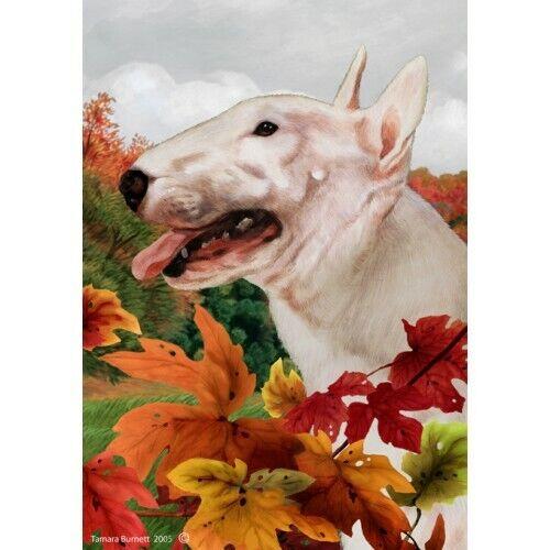Fall House Flag - Bull Terrier 13099