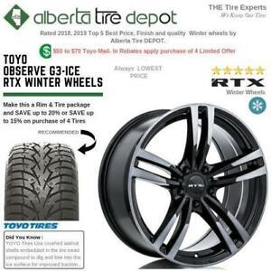 SALE Toyo OBSERVE G3-ICE Tires RTX Winter Rims walnut shell Sandpaper Technology Snow Ice 185/65R15 185/65R14 185/60R15