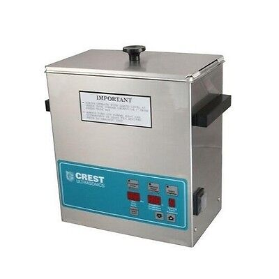 Crest Powersonic Ultrasonic Cleaner 1 Gallon Digital Timer Heat Pc Basket