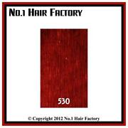 Clip in Human Hair Extensions Dark Red