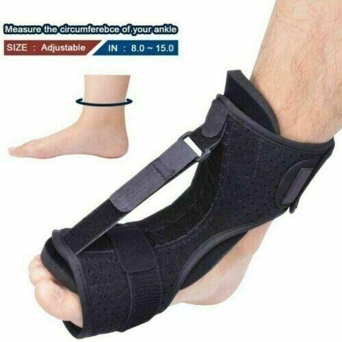 Foot Drop Orthotic Brace Adjustable Achilles Plantar Fasciitis Night Splint US - $15.68