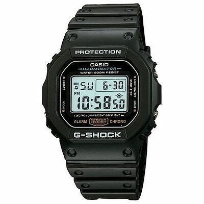 Casio DW5600E-1V, G-Shock 200 Meter Watch, Chronograph, Illuminator, Alarm