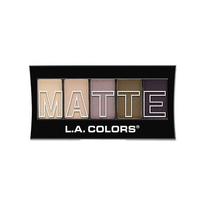 L.A. Colors 5 Color Matte Eyeshadow, Natural Linen, 0.08 Oun