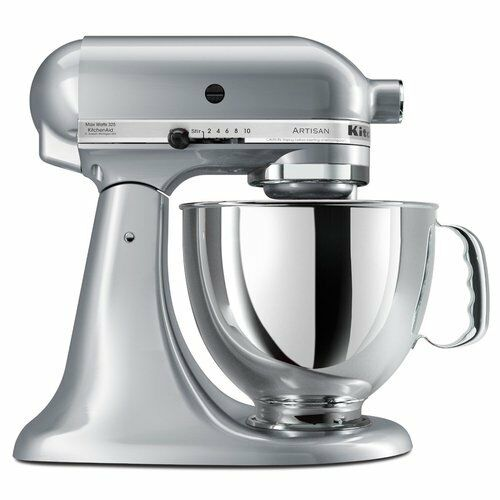 KitchenAid Stand Mixer tilt 5-QT RRK150 Artisan Tilt Choose The Beautiful Colors Metallic Chrome mc