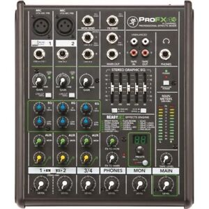 Mackie Pro FX4V2  Mixer with Graphic EQ + Parametric + FX