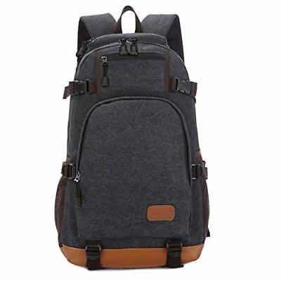 ONEYES Canvas School bag for Boys Backpack for Men Teens Sch