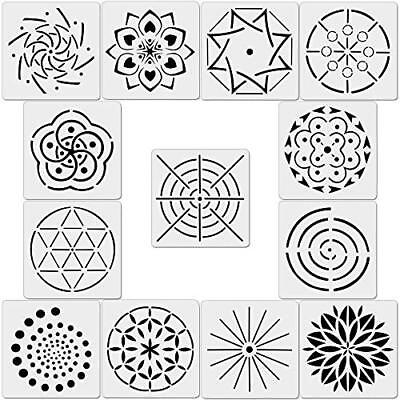 13 Pack Mandala Dot Painting Templates Stencils for DIY Painting Art Projects](Mandala Crafts)