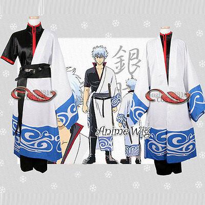 Neu Gintama Gintoki Anime Cosplay Verkleidung Kostüm Kimono 2017 Halloween S-XXL