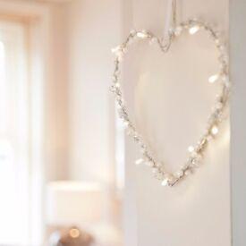 10 LED Heart Wreath Fairy Lights - Brand New - Kilmarnock Area